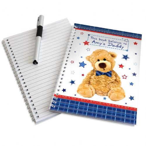 Personalised Teddy Bow Tie Notebook